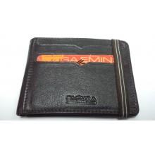 Кредитница визитница бумажник коричневый из натуральной кожи на резинке 1098 12-3
